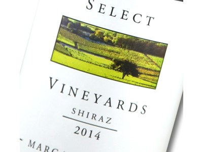 Select Vineyards Shiraz 2014